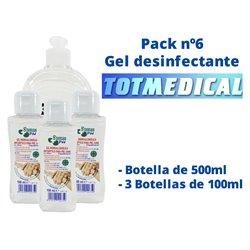Pack gel desinfectante nº6