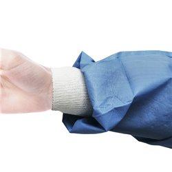 Batas impermeables de manga larga con puño de tricot de 54 grs. (5un.)