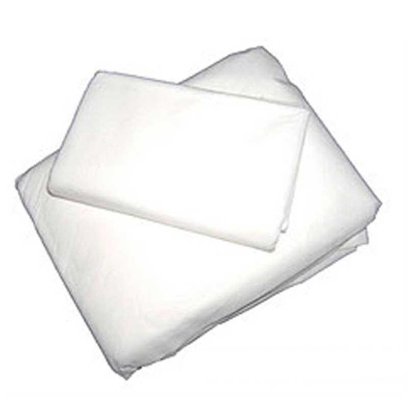 10 Sabanas ajustables blancas de 120x220 cm. 20 gr + Funda almohada