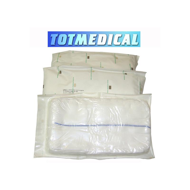 Mascarilla quirúrgicas de tres capas con gomas color blanco