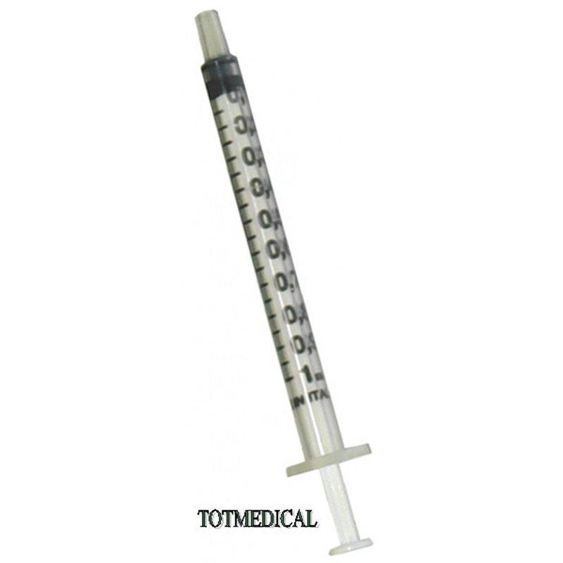 Jeringa de insulina sin aguja de 1 ml.