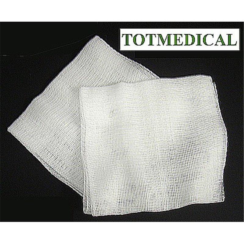 Pieza de gasa rectilínea de 17-18 hilos 16x25 - 8 capas plegado 7x7,5  plegado de farmacia