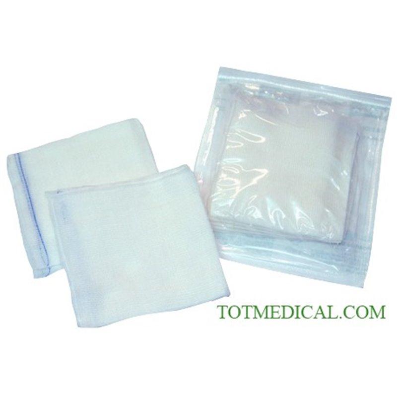 Sobres Estériles (en cajas Mini Pack) de 5 Unid. de gasa rectilínea de 15-16 hilos 20x20 - 4 capas plegado 10x10