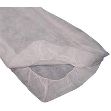 Sabanas desechables ajustables blancas de 125x230 cm. 40 grs.