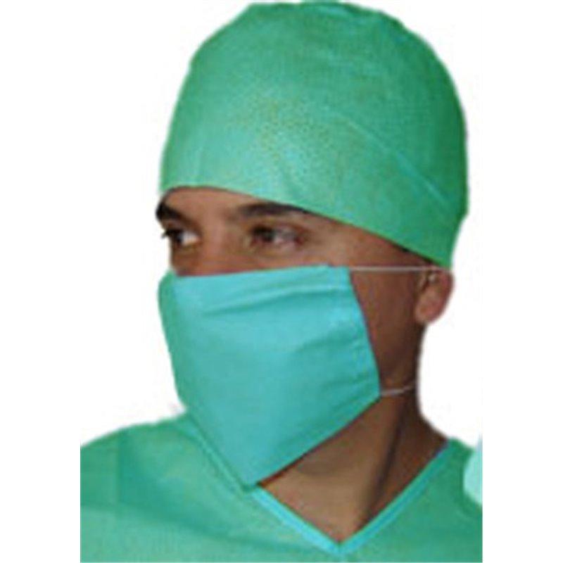 Gorro de cirujano con cintas verde