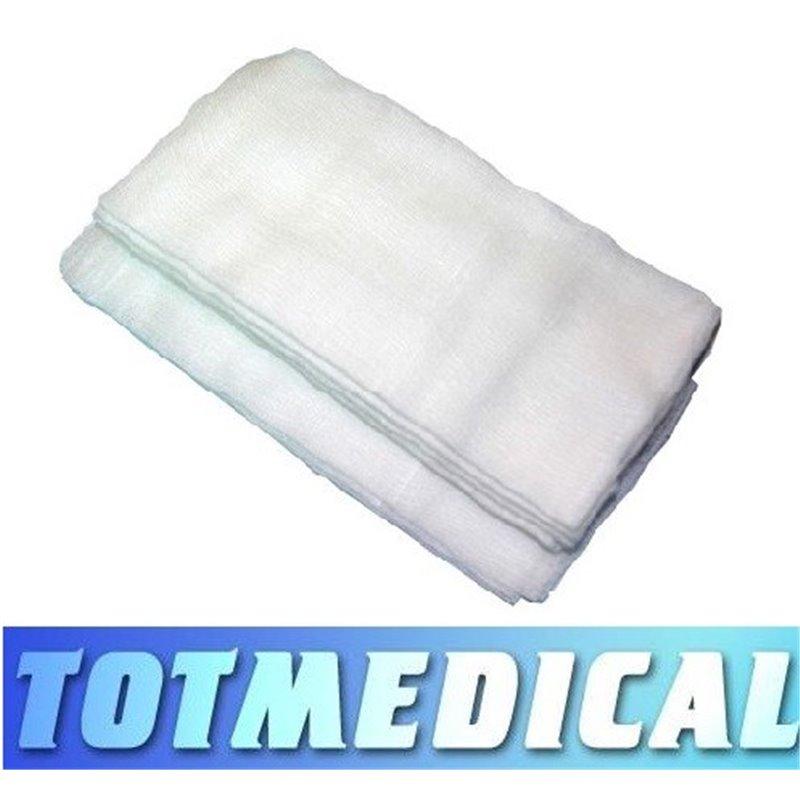 Gasas quirúrgicas cosidas de 4 telas sin contraste 45x45 cm.