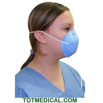Mascarilla cirujano cónica de papel azul