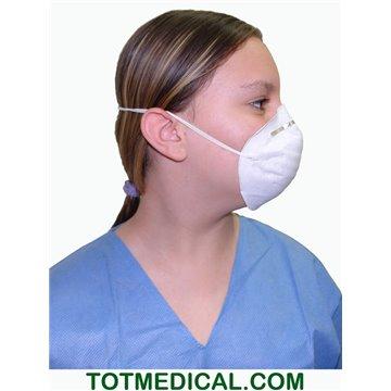 Mascarilla cirujano cónica de papel blanca