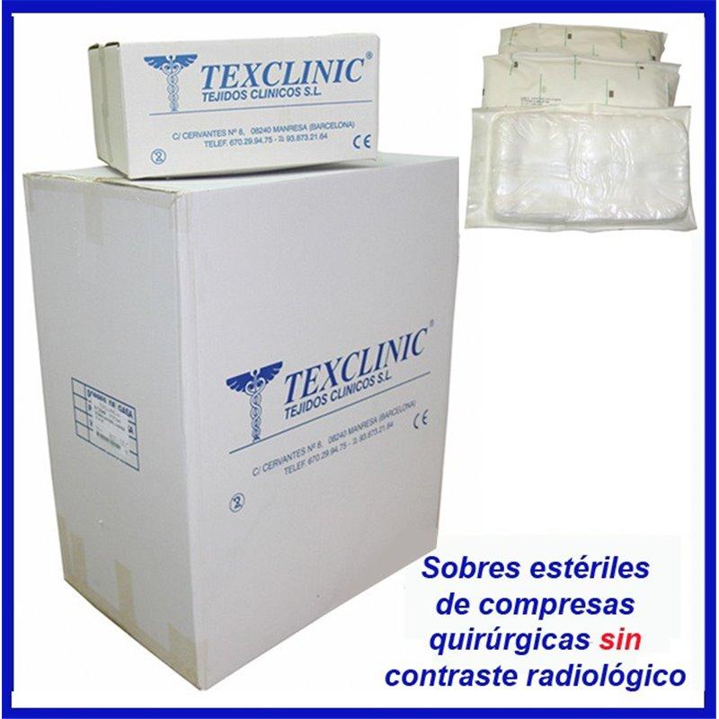 Sobres estériles de 1 compresa quirúrgica 17 hilos 4 telas 45x45 Pleg.12x12