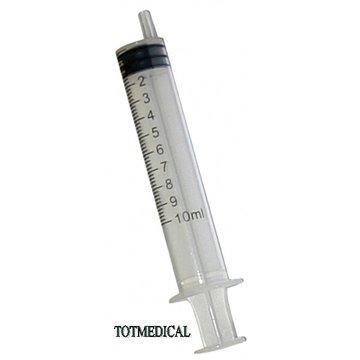 Jeringuilla sin aguja de 10 ml. luer excentrico