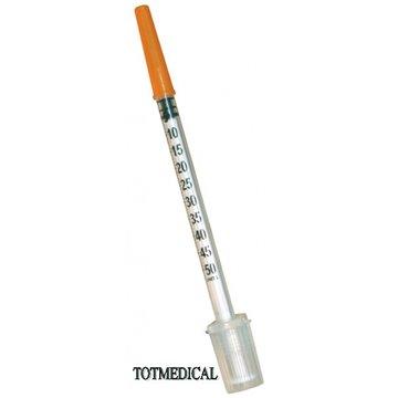 Jeringa de insulina de 0,5 ml. con aguja de 0,33 x 12 mm. G29