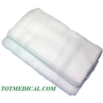Apósitos de gasa cosida de 2 telas para quirófano sin contraste radiológico 45x45 cm.