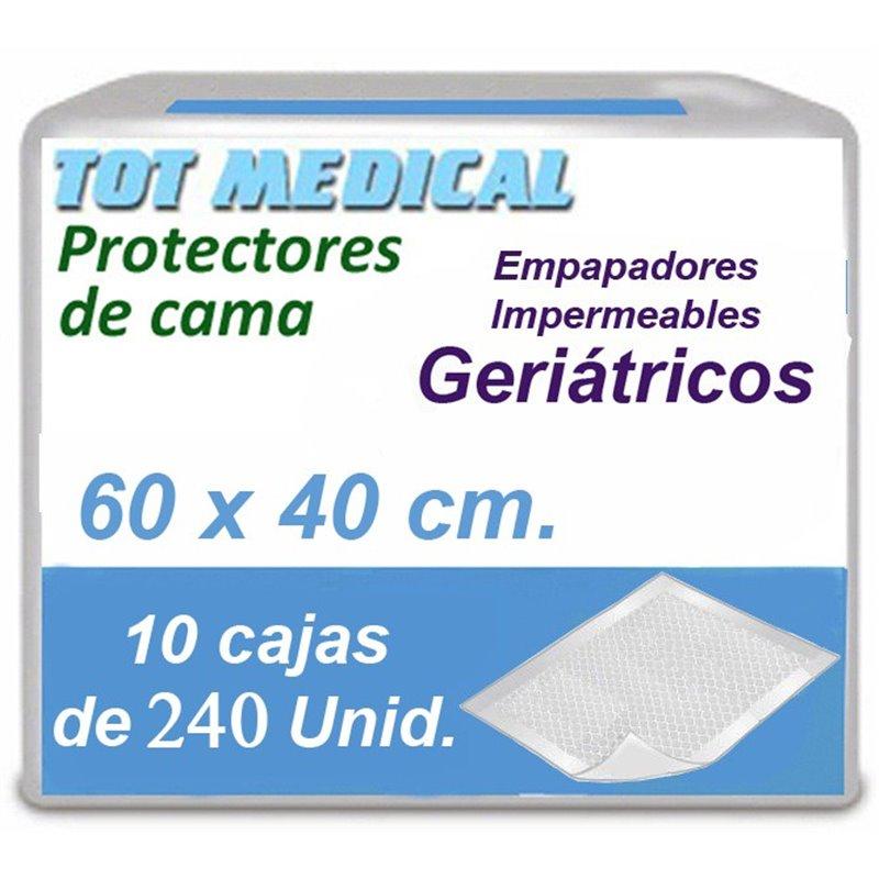2400 Empapadores para incontinencia impermeables de 60 x 40 cm.