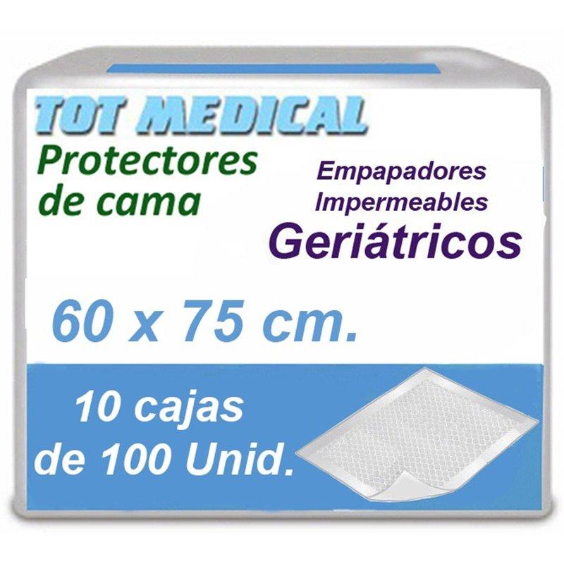 Empapadores para incontinencia impermeables de 60 x 75 cm.