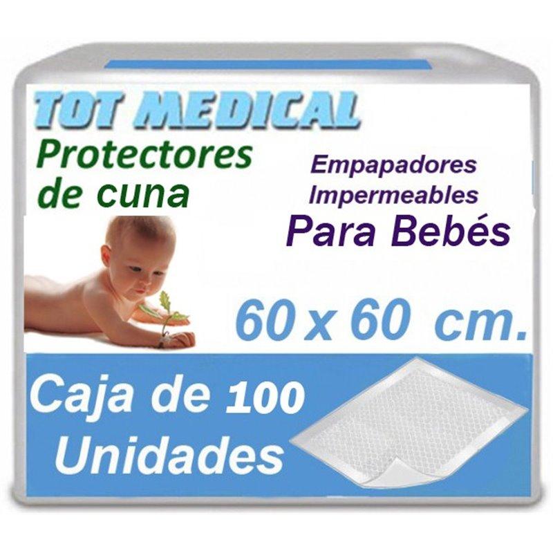 Empapadores para bebes de 60 x 60 cm.