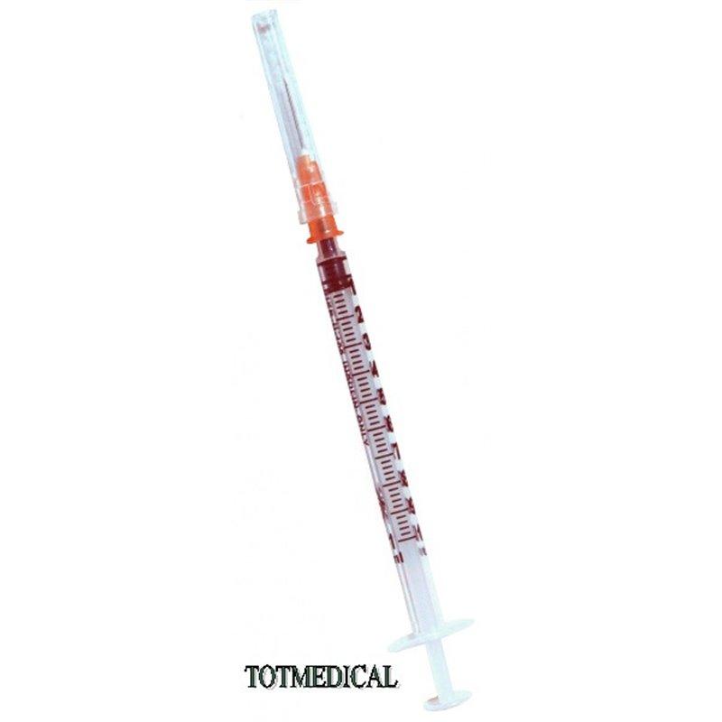 Jeringa de insulina de 1 ml. con aguja de 0,5 x 16 mm. – G25