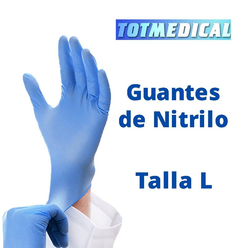 100 - Guantes de Nitrilo EMS de alta resistencia Talla Grande (L)