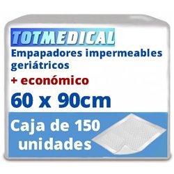 150 Empapadores para incontinencia impermeables de 60 x 90 cm.