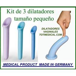 Kit de 3 dilatadores vaginales de silicona tamaño pequeño