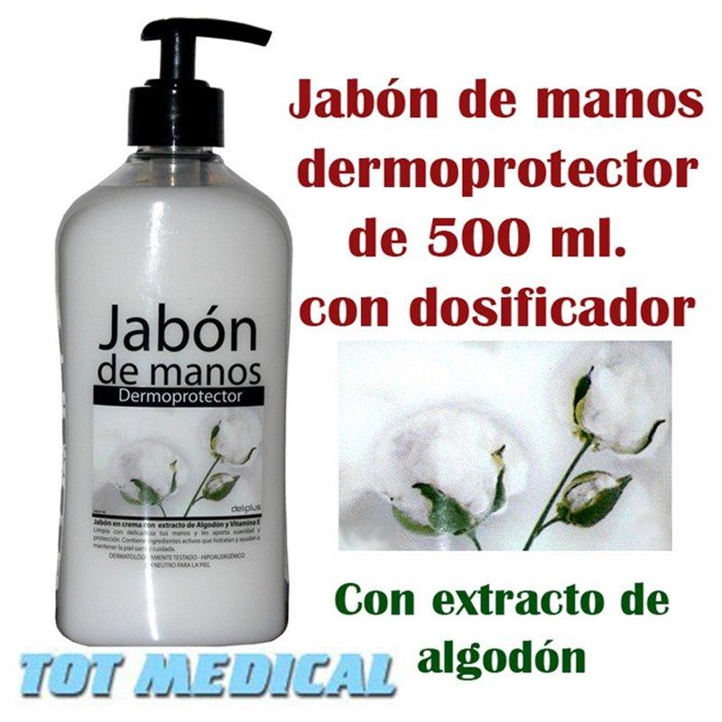 Jabón de manos dermoprotector de 500 ml. con dosificador