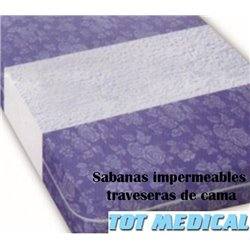 100 Sabanas traveseras impermeables desechables de 85 x 140 cm.
