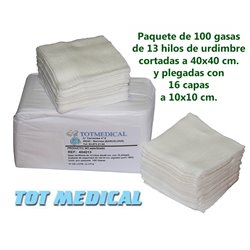 100 Sabanas desechables ajustables blancas de 125x230 cm. 40 grs.