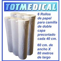 1.000 Sabanas no ajustables desechables blancas de 150 X 240 cm, 20 grs.