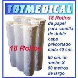 18 rollos de papel camilla