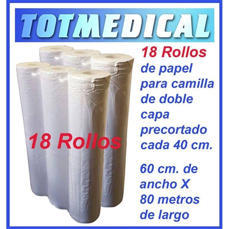 1.000 Sabanas no ajustables desechables blancas 185 X 200 cm, 20 grs.