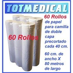 1.000 Sabanas no ajustables desechables Verde Quirofano de 150 X 240 cm, 20 grs.