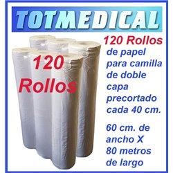 120 rollos de papel camilla