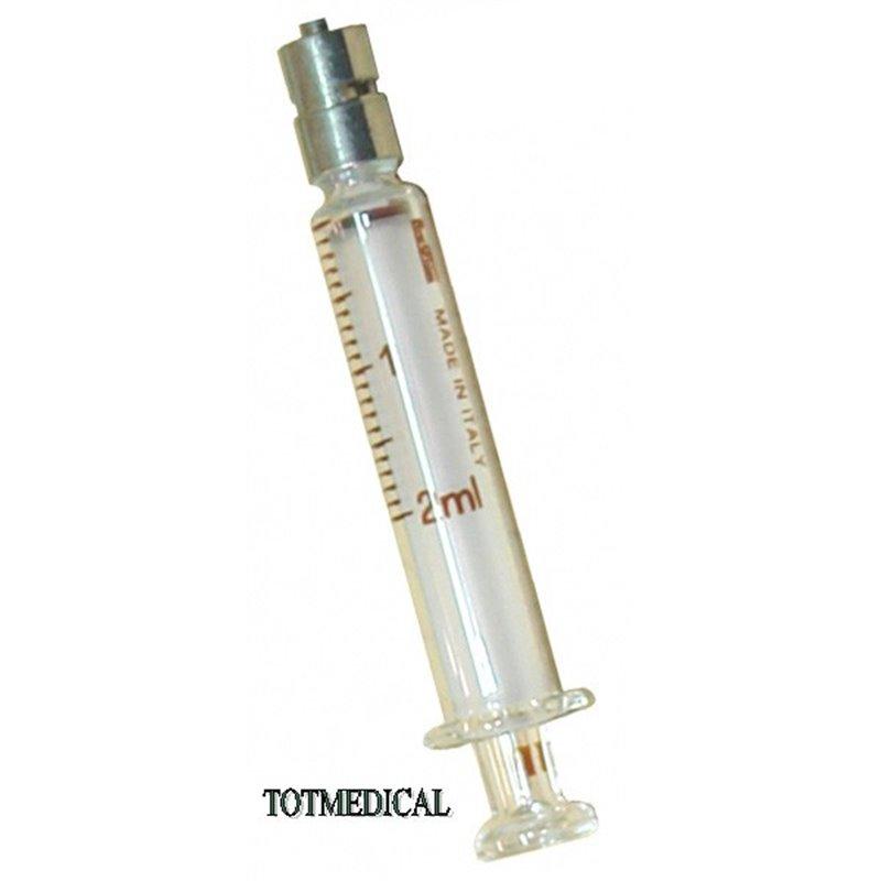 Jeringa de Cristal de 2 ml. Con luer lock