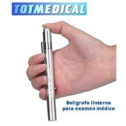 Linterna bolígrafo led para inspección medica en  cromado