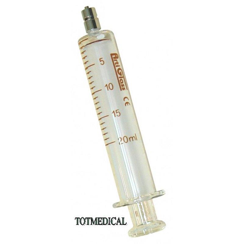 Jeringa de Cristal de 20 ml. Con luer lock
