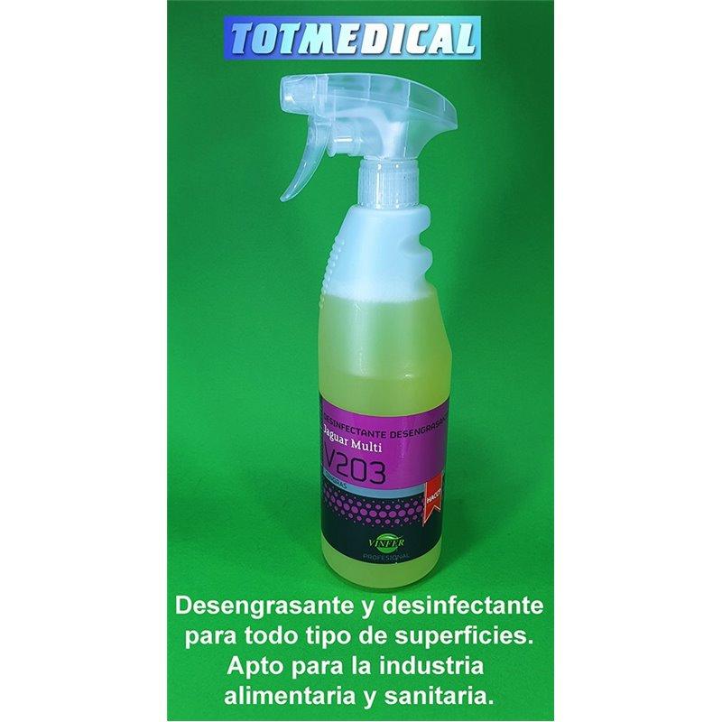 Desengrasante y desinfectante para todo tipo de superficies V203. 750 ml.