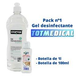 Pack gel desinfectante nº1