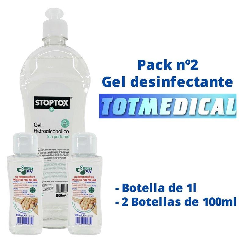 Pack gel desinfectante nº2