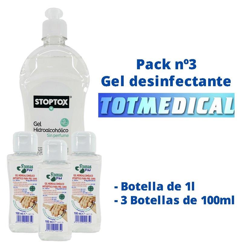 Pack gel desinfectante nº3