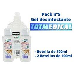 Pack gel desinfectante nº5