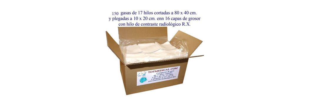 Sabanas desechables por cajas de 100 unidades.